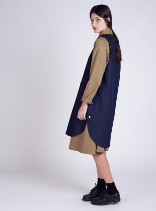 Young British Designers: Denim Pop Tabard Dress - last one by Kate Sheridan