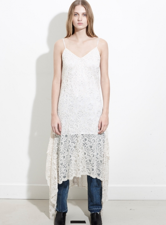 Young British Designers: Cream Lace Cami Dress by REMAIN STUDIO