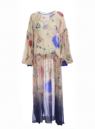 Young British Designers: THE DUSK Dress in Floral Explosion - last one by Klements