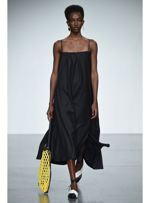 Young British Designers: NEASA BLACK DRESS  by Eudon Choi