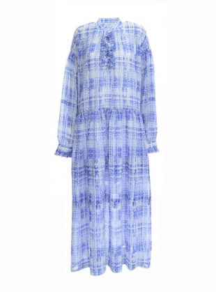 Young British Designers: Oversized Dress with Frill Bib - Last one by REMAIN STUDIO