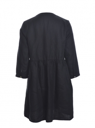 Young British Designers: FREYA Linen Dress in Black by Beaumont Organic