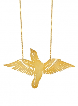 Young British Designers: HELESY'S Gold Bird Pendant by Joanna Cave