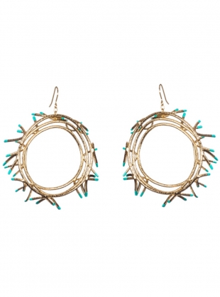 Young British Designers: MYRTLE Hoop Drop Earrings by Oddical