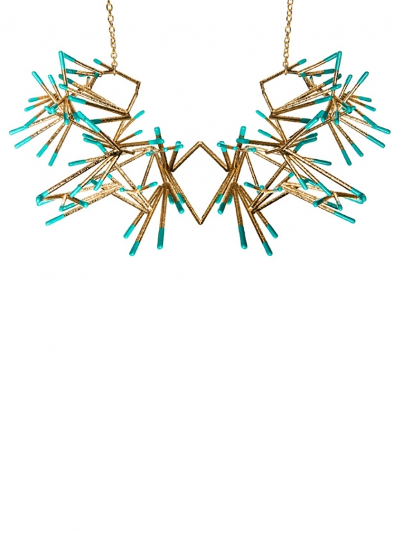 Young British Designers: PHYLLIS Oversized Statement Necklace by Oddical