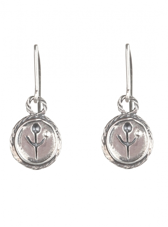 Young British Designers: SILVER EMPANDA SYMBOL EARRINGS by BOODI Jewellery