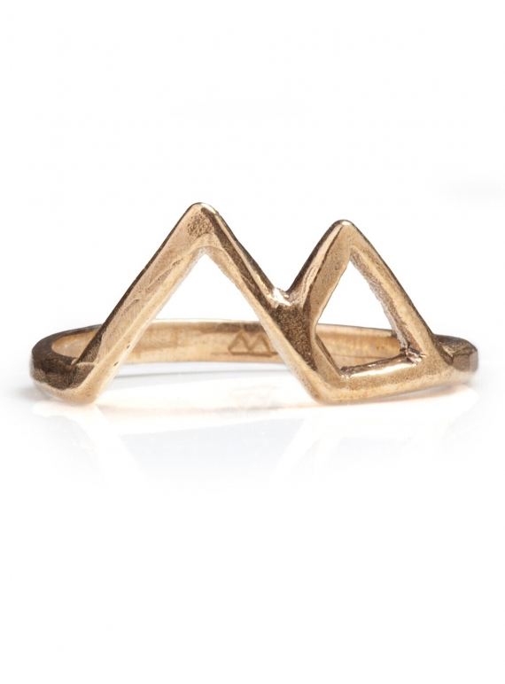 Young British Designers: GOLD VESUVIUS MOUNTAIN RING by BOODI Jewellery