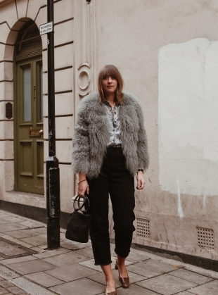 Young British Designers: MATILDA JACKET IN GREY by Florence Bridge