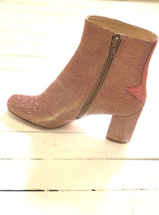 Young British Designers: SILVER LINING BOOTS IN DISCO PINK by Camilla Elphick