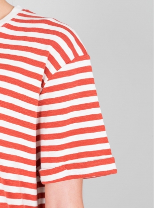 Young British Designers: Classic Striped Boyfriend Tee - Last one by Folk