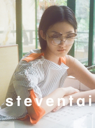 Young British Designers: Striped Sun Wave Top - Last one by Steven Tai