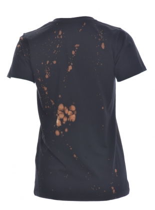 Young British Designers: JAPANESE BLOSSOM TEE IN Brown/Black - last one by Simeon Farrar