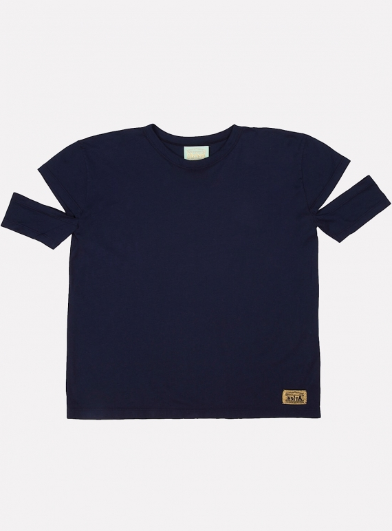 Young British Designers: Bandage Short Sleeve T Navy by Aries