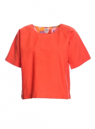 Young British Designers: GAIA Organic Cotton Top in Rust - last one by COR Clothes