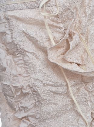 Young British Designers: Natural Textured Bustle Skirt by Renli Su