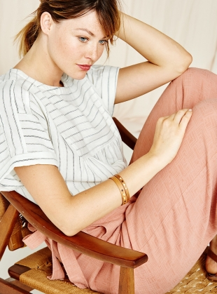 Young British Designers: Poppy Culottes in Washed Pink by SIDELINE