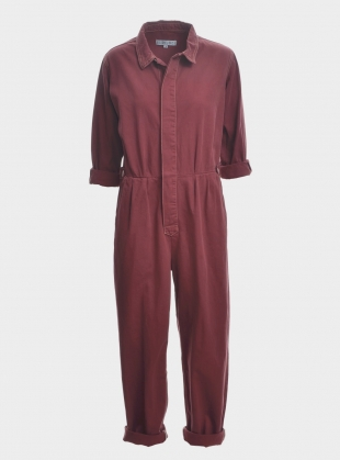 Young British Designers: Isabel Boilersuit in Washed Red - Sold out by SIDELINE