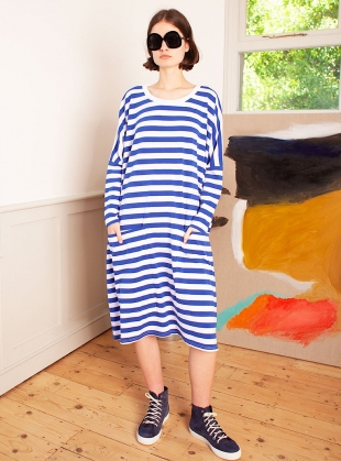 Young British Designers: MILO DRESS. Blue Stripe - sold out by LF Markey