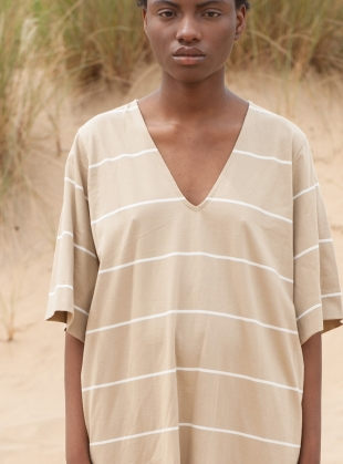 Young British Designers: SASHA SUE STRIPE T-DRESS by Beaumont Organic