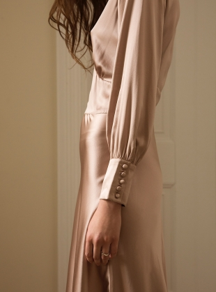 Young British Designers: VINTAGE ROSE DRESS. Pale Pink by Kelly Love