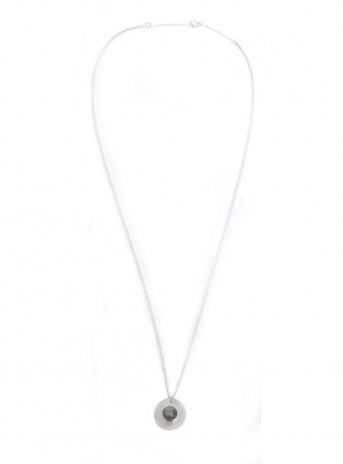 Young British Designers: GWYNETH RECYCLED SILVER STONE PENDANT by Beaumont Organic