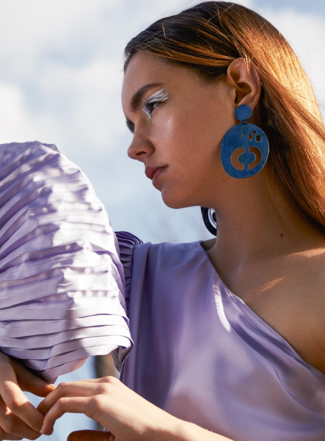 CALVINO VASE EARRINGS. Cobalt Blue - Last pair by Ruby Jack