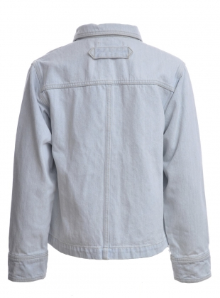 Young British Designers: Rudy Jacket in Light Wash Denim by SIDELINE