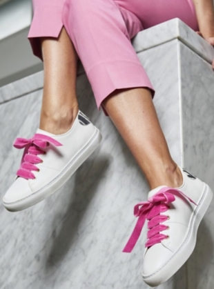 Young British Designers: VELVET LACE SWEETHEART SNEAKERS by Rogue Matilda