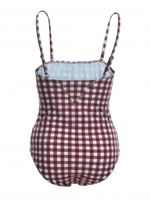 Young British Designers: LUCA GINGHAM SWIMSUIT  by Belize